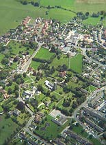 Stanford from the air, July 2001, thanks to Mark Bush