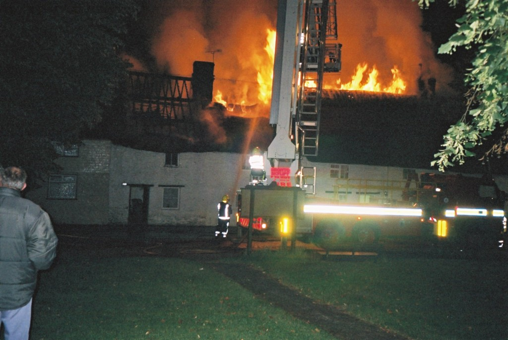 Stanford in the Vale  Cottage Fire at Church Green